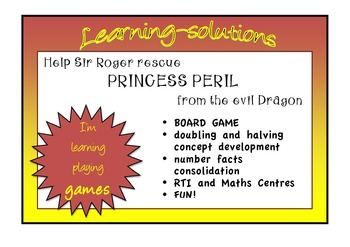 NUMBER FACTS Game - PRINCESS PERIL - Doubling and Halving Fun