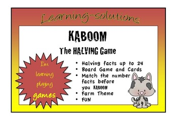 NUMBER FACTS - Halving facts to 24 - KABOOM GAME
