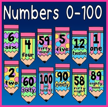 NUMBER FLASHCARDS 0-100 TEACHING RESOURCES MATHS NUMERACY EYFS KS1-2