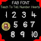 NUMBER FONT: HEARTS
