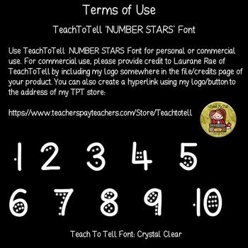 NUMBER FONT: STARS