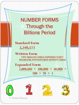 NUMBER FORMS: Through the Billions Period