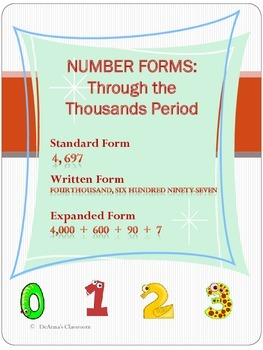 NUMBER FORMS: Through the Thousands Period