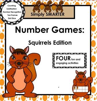 SMARTBOARD NUMBER GAMES:  Squirrels Edition