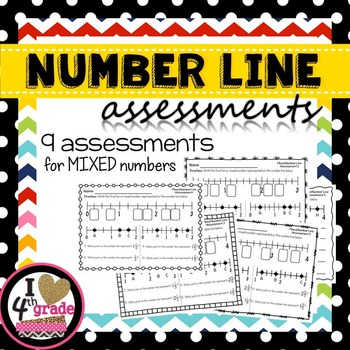 Mixed Numbers on a Number Line Assessments