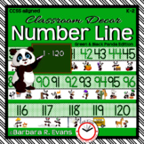 NUMBER LINE POSTERS 1-120: Classroom Decor, Green & Black,