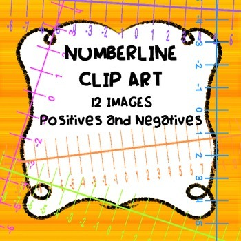 NUMBER LINES CLIP ART- NEGATIVE AND POSITIVE