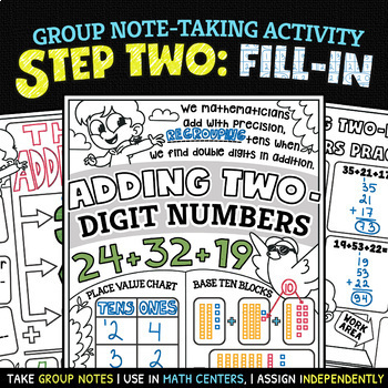 NUMBER NOTES ★ 2-Digit Addition with Regrouping Worksheets ...