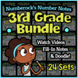 NUMBER NOTES   3rd Grade Math Doodle Worksheets   Super-Fun Practice Activities