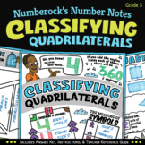 NUMBER NOTES ★ Classifying Quadrilaterals Worksheets ★ 3rd Grade Doodle Math