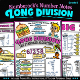 NUMBER NOTES ★ Long Division Activity ★ 5th Grade Long Division Doodle Math Fun