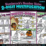NUMBER NOTES ★ Multi-Digit Multiplication Worksheets ★ 5th Grade Math Doodling