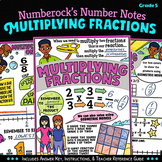 NUMBER NOTES ★ Fun Multiplying Fractions Activity ★  5th Grade 5.NF.4 Worksheets