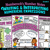 NUMBER NOTES ★ Writing Numerical Expressions ★ 5th Grade Doodle Activity 5.OA.1