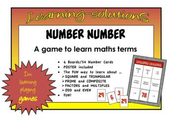 NUMBER  NUMBER Board Game to classify numbers