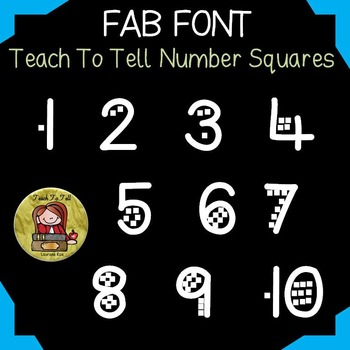 NUMBER: NUMBER FONT: SQUARES