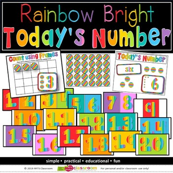 NUMBER OF THE DAY - LEARNING CENTER - RAINBOW BRIGHT