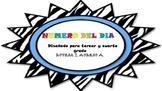 NUMBER OF THE DAY/NUMERO DEL DIA