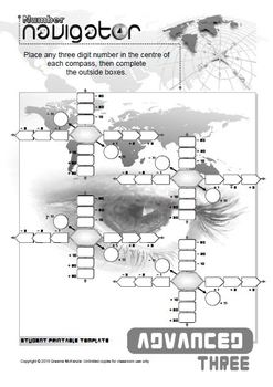 NUMBER OPERATIONS: ADD and SUBTRACT; Number Navigator 3 ADVANCED Edition