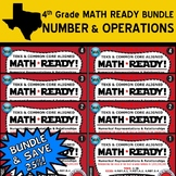 NUMBER & OPERATIONS BUNDLE ~ MATH READY 4th Grade Task Car