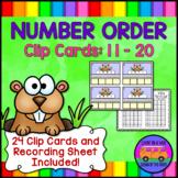 NUMBER ORDER CLIP CARDS:  11 - 20