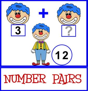 NUMBER PAIRS Practice in Addition Facts Up to 20