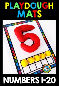 NUMBER PLAYDOUGH MATS (NUMBERS 1-20)