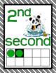 NUMBER POSTERS 1-20: Classroom Decor, Green & Black Scheme, Panda Theme