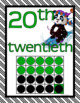 NUMBER POSTERS 0-20 Cardinal Ordinal Panda Theme Classroom Decor Green Black