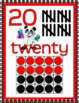 NUMBER POSTERS 1-20: Classroom Decor, Red & Black Scheme,