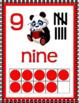 NUMBER POSTERS 0-20 Cardinal Ordinal Panda Theme Classroom Decor Red Black