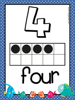 NUMBER POSTERS:  FISH THEME