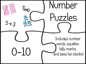 NUMBER PUZZLES 0-10!