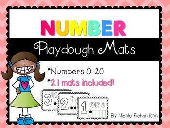 NUMBER Playdough Mats! 0-20!