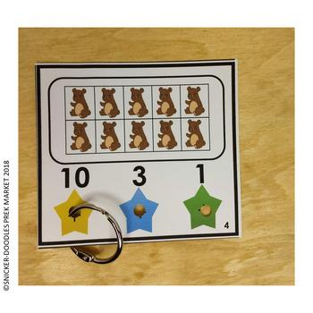 NUMBER RECOGNITION 1 TO 10 TEN FRAMES POKE CARDS