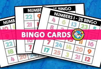 NUMBER RECOGNITION ACTIVITIES (NUMBERS 1-25 BINGO GAME FOR WHOLE CLASS)