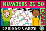 NUMBER RECOGNITION ACTIVITIES (NUMBERS 26-50 BINGO GAME FO