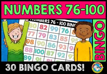 NUMBER RECOGNITION ACTIVITIES (NUMBERS 76-100 BINGO GAME FOR WHOLE CLASS)