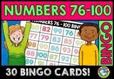NUMBER RECOGNITION ACTIVITIES (NUMBERS 76-100 BINGO GAME F