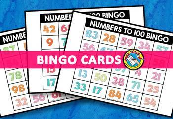 NUMBER RECOGNITION ACTIVITIES (NUMBERS TO 100 BINGO GAME FOR WHOLE CLASS)