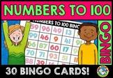 100TH DAY OF SCHOOL ACTIVITY KINDERGARTEN, 1ST GRADE (NUMBERS TO 100 BINGO GAME)