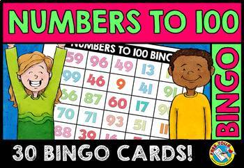100TH DAY OF SCHOOL ACTIVITY KINDERGARTEN, 1ST GRADE (NUMBERS TO 100 BINGO GAME)