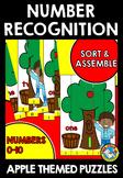 APPLES KINDERGARTEN ACTIVITIES (NUMBER RECOGNITION 1-10 GAME) APPLE MATH CENTER