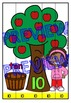APPLE ACTIVITIES: NUMBER RECOGNITION CENTER: APPLE THEMED
