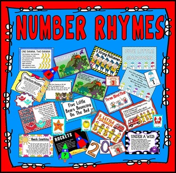 NUMBER RHYMES RESOURCES COUNTING ROLE PLAY EYFS KS1 MATHS NUMERACY POEMS NUMBER