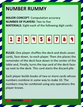 NUMBER RUMMY - Order of Operations