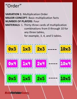 """""""ORDER"""": Multiplication Order Math Game"""