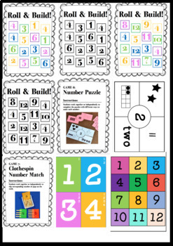 NUMBER SENSE 0-20 ACTIVITIES | PRINTABLES | B&W + COLOUR