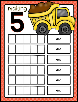 NUMBER SENSE TO TEN: MATH ACTIVITY PACK