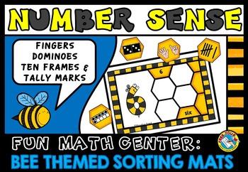 BEE THEMED NUMBER SENSE SORTING MATS: SPRING MATH: NUMBER SENSE KINDERGARTEN